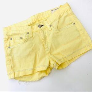 rag & bone Yellow Shorts